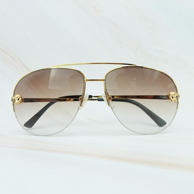 Metallo vetro carter telaio mens di lusso serio guidare occhiali da sole all'aperto ombreggiatori ombreggiatori sole piacere sole occhiali da sole marchio leopardo BDJMI