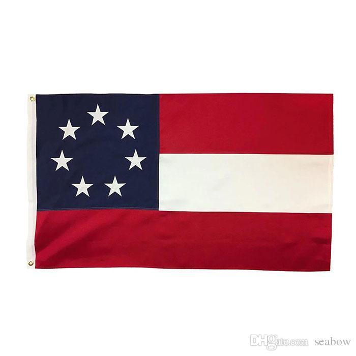 1. nationale konföderierte flagge banner 3x5 ft 90x150cm staatliche flagge festival party geschenk 100d polyester indoor outdoor druckte heißer verkauf