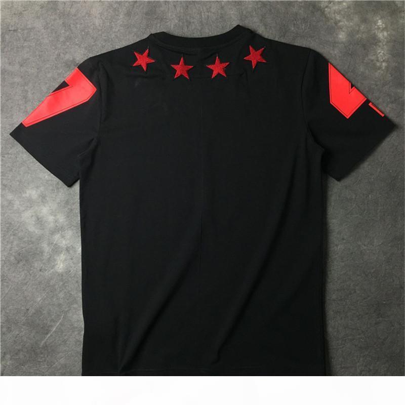 Magliette da uomo T-shirt da uomo donna hip hop t shirt manica corta moda Five appuntita Stampa a stella da uomo T-shirt T shirt S-3XL