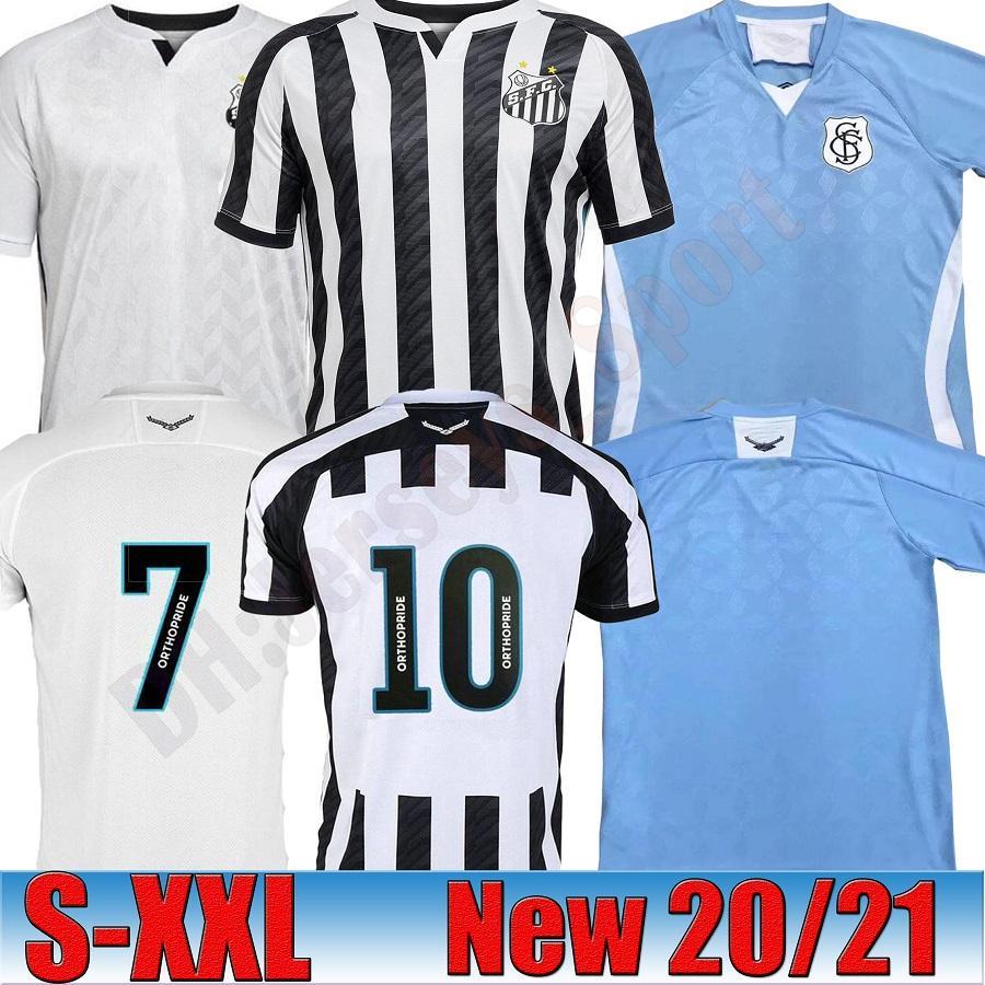 2020 Brezilyalı Clube Camisa de Futebol Futbol Forması FC Santos 6 Gustavo H. 41 Jean Mota 21 Diego P. Futbol Gömlek Kitleri Üniforma