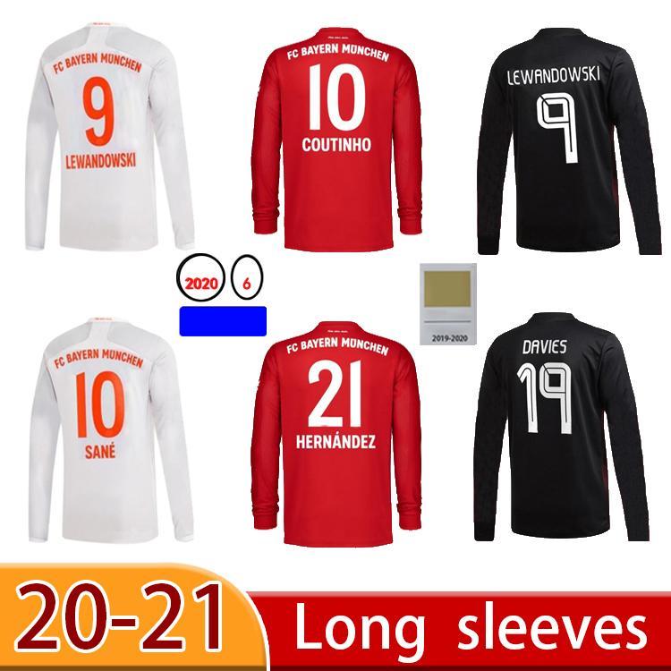 2021 manga larga sane lewandowski coman soccer jersey hombres niños conjuntos con calcetines tolisso gnabry alaba davies muller kimmich camiseta de fútbol