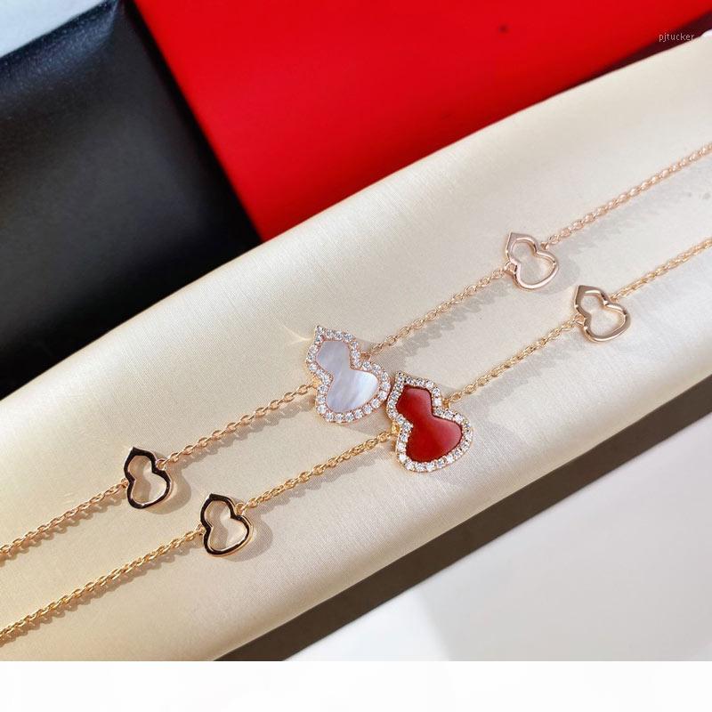 Armband Kürbis Armband Schmuck Frauen Hochzeit Schmuck 18 Karat vergoldete Sterlingkettenlänge 16 + 1,5 + 1,5 cm1