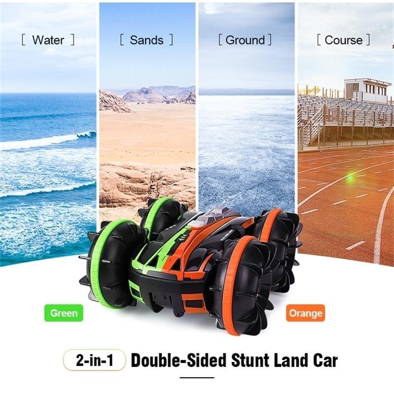 JJRC Q81 1:20 2,4g 2-in-1 doppelseitig Amphibien 360-Grad-Rotation RC-Fahrzeug RC-Auto-Fernbedienung Auto RC-Stunt-Automodelle 201223
