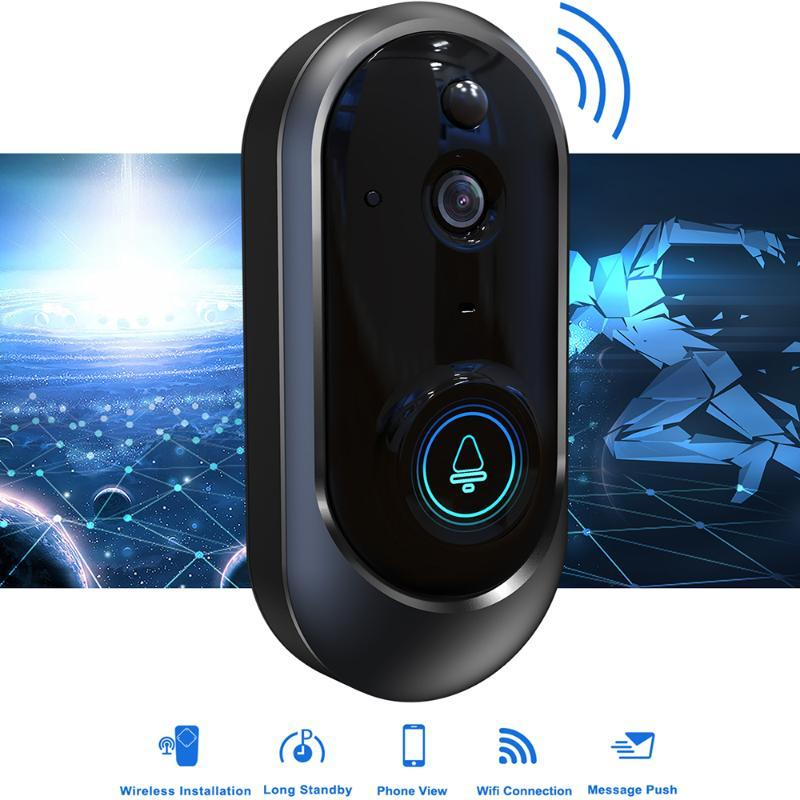 WIFI 1080P Sonnette caméra sans fil vidéo Sonnette caméra IR Night Vision 2 voies Parler PIR détection de mouvement APP contrôle à distance