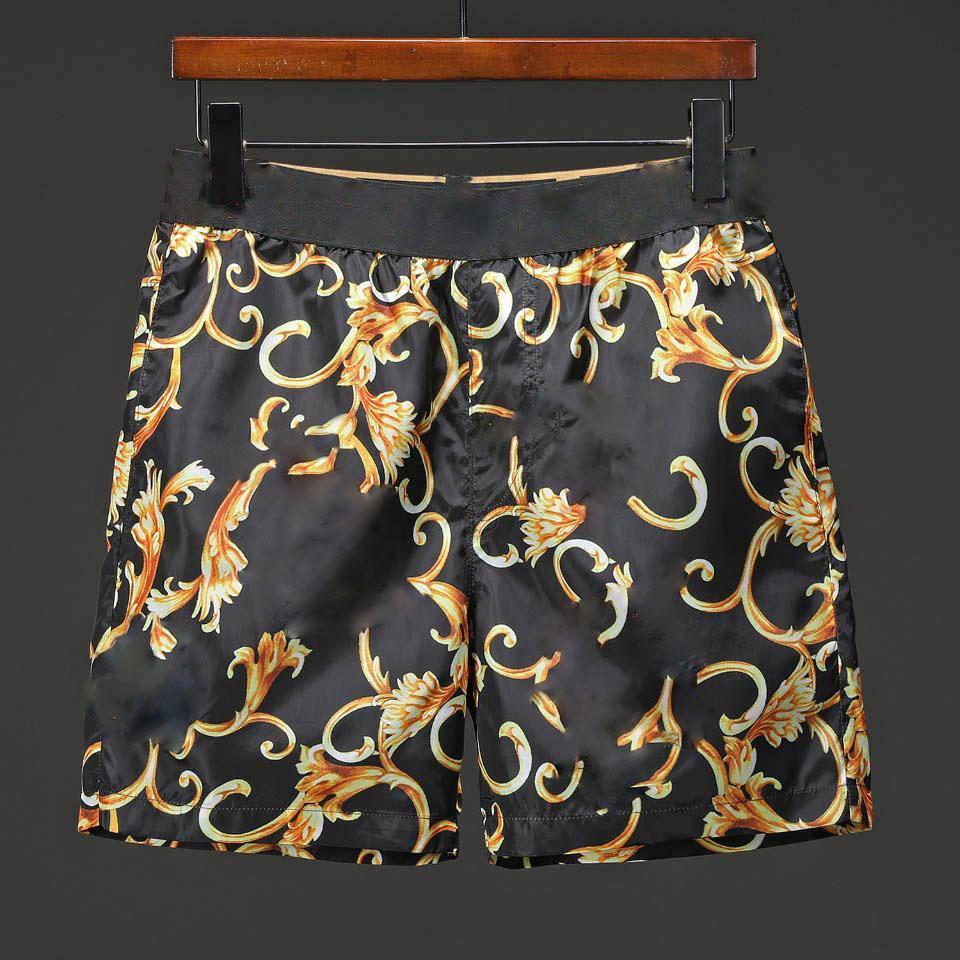 الرجال المد مصمم النمر زهرة روز الطباعة الرقمية عارضة الأزياء شاطئ السراويل خمس نقاط السراويل الرجال