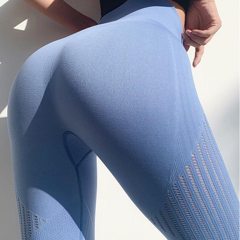 Seamless strapy gym aperteiras sexy push up barriga de barriga ioga calça alta cintura esporte legging fitning calça executando capri calça mulheres 201202
