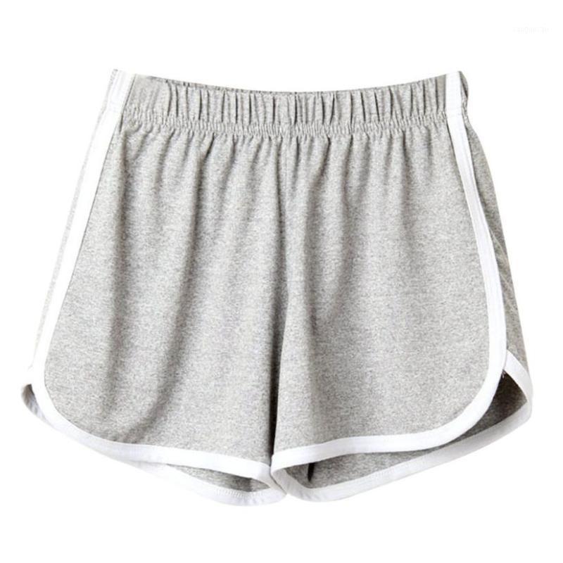 Gri Kadınlar Lady Yaz Spor Şort Plaj Kısa Pantolon Koşu Diz Boyu Bayan Pantolon Elastik Bel Giyim AU08031
