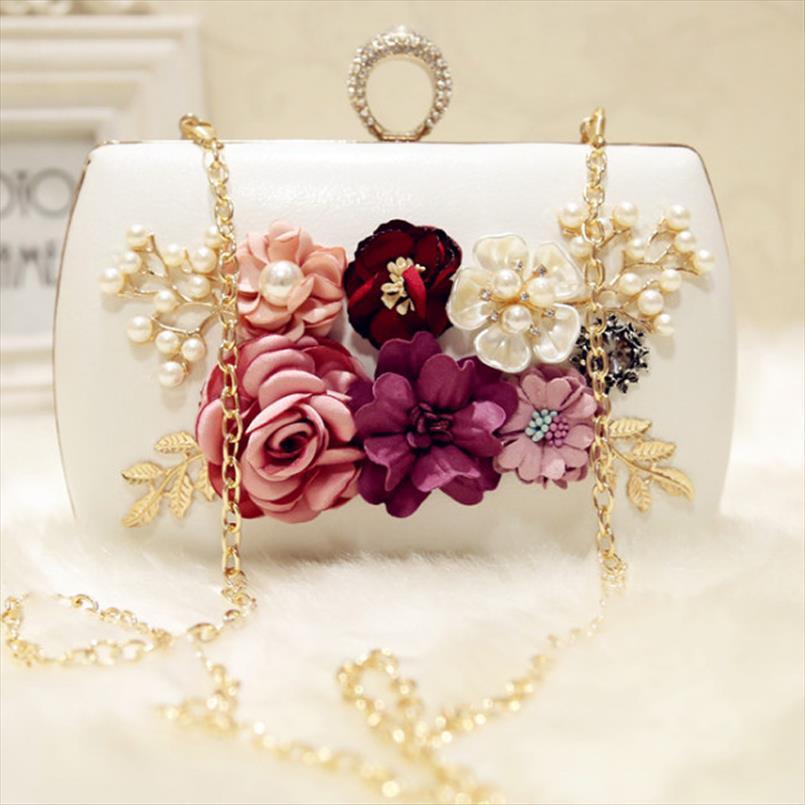 borsa cena borse a mano fiori di sera della frizione di marca di alta qualità 2019 con i sacchetti di fiori per banchetti