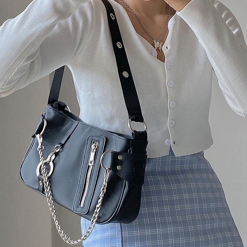 Женские сумки багет женщины Subaxillary SAC 2020 Tote нейлоновые кошельки подмышечные сумки для плеч сумка сумка новая роскошная цепочка для и ivadq tfrla