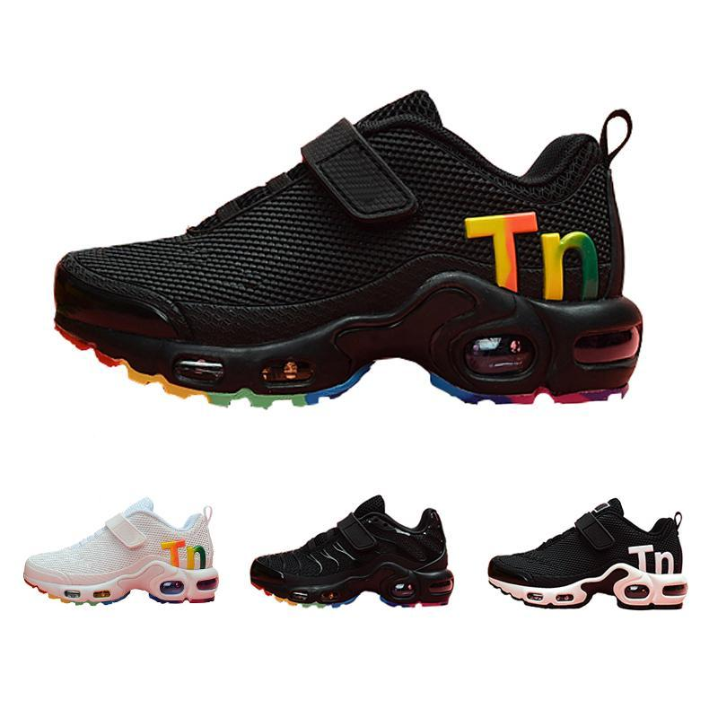 Hot Kids TN Plus Sports Running Shoes 2020 Free Children Boys Girls Shoes Trainers Tn Sneakers Classic Outdoor Toddler Sneakers 28-35