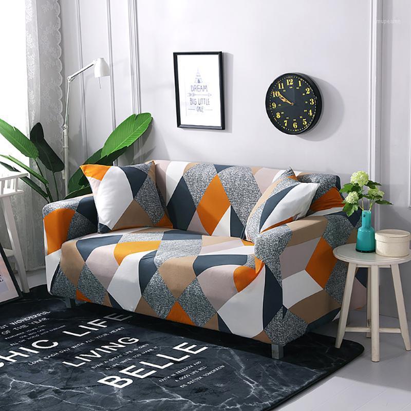 Elastische Sofa-Abdeckung Stretch-Sektionale Ecke Couch Cover Universal für Wohnzimmer 1/2/3/4 Slipcover, L-förmig Kaufen 2 stücke1