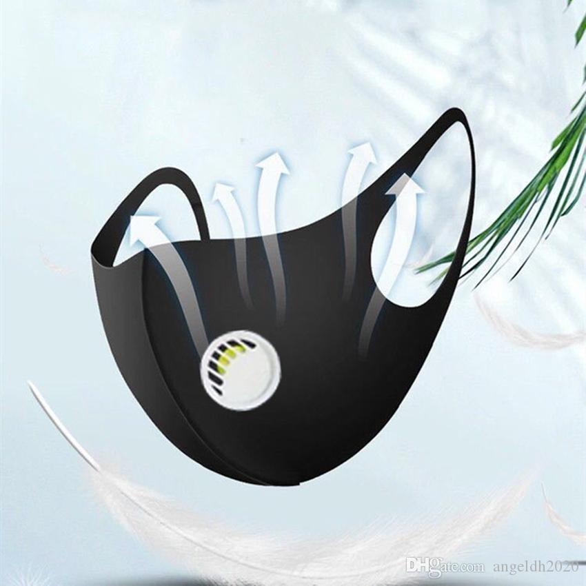 Maschere di progettazione di moda in cotone di seta del ghiaccio Adulto del fumetto della stampa antipolvere della valvola di respirazione impermeabile traspirante delle maschere di pulizia traspirante Trasporto libero