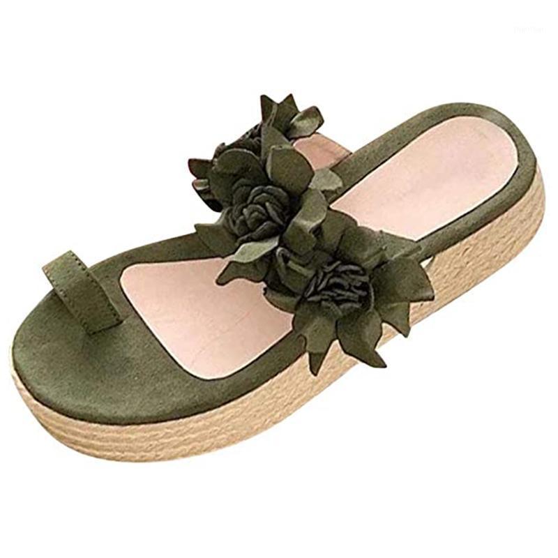 Mulheres Casual Flor Plataforma Sandálias Zapatos de Mujer Senhoras Férias de Verão Moda antiderrapante Daily Beach Sandálias Sandálias Slippers1