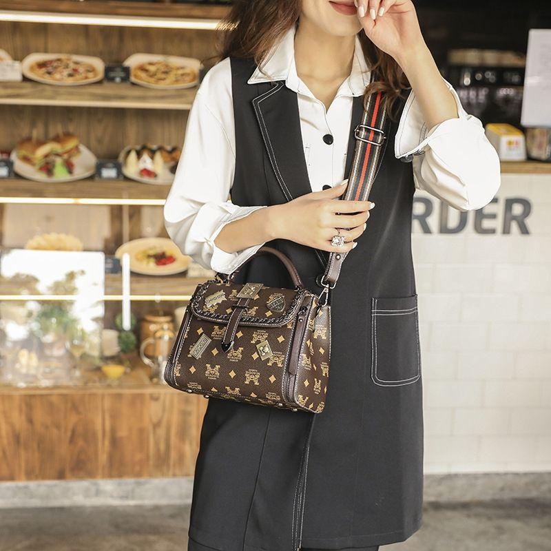 impresa Corea del estilo del mensajero portátil de la mujer bolsa de bolsa pequeña satchelSatchel 2020 nueva moda elegante bolsa pequeña avanzada 9ao0I