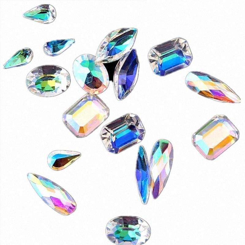 2019 New Nail Rhinestones AB Diamond Marquise Water Gems 3D Shape Decorations Drop Nail Glitter Accessories Oval Glass Art Z0B9 X4AI#