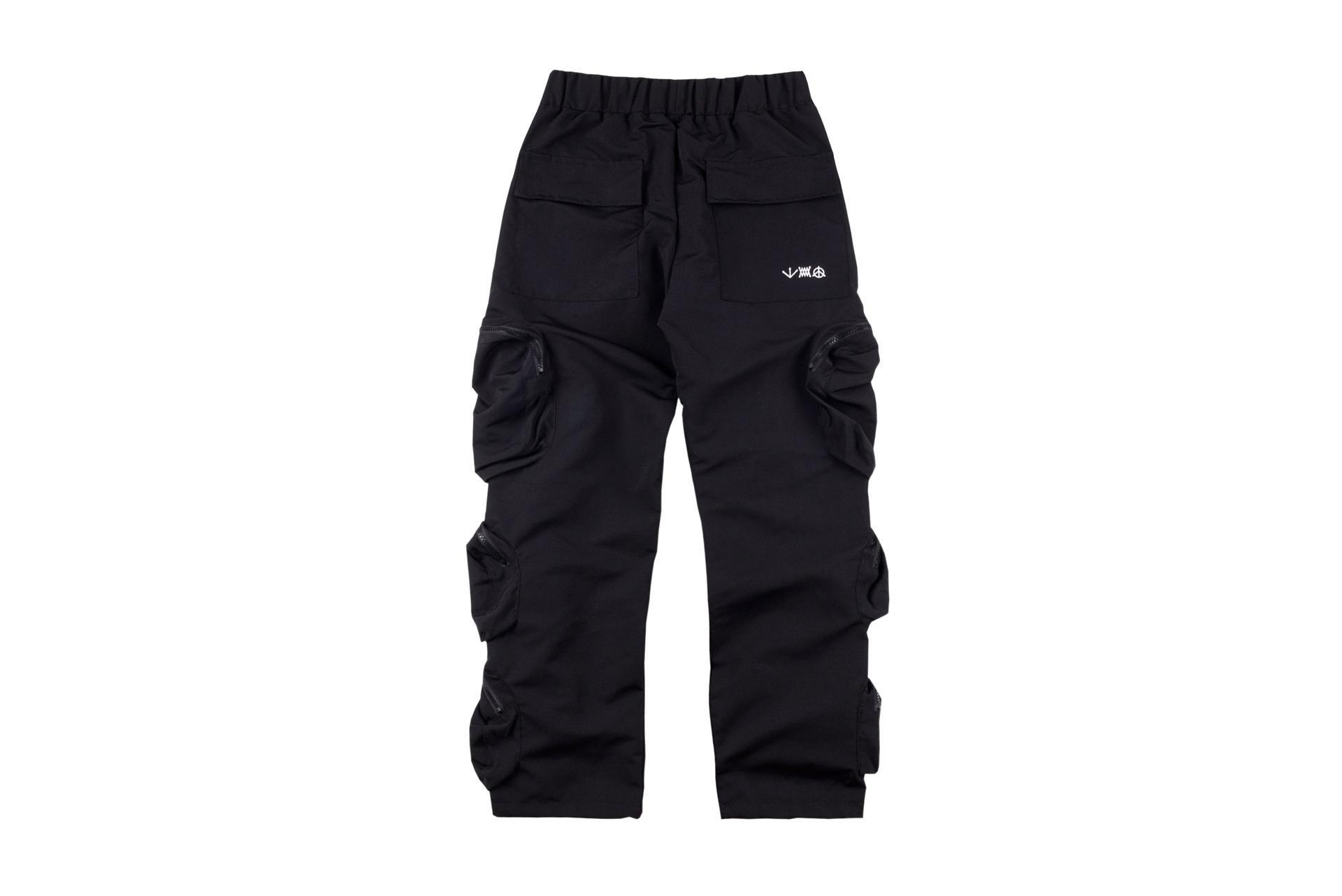 Erkek Tasarımcı Pantolon Travis Scott Poket Pantolon TS Tulum Çok Cep Rahat Pantolon Elastik Bel Retro Rahat Pantolon Moda Sweatpants