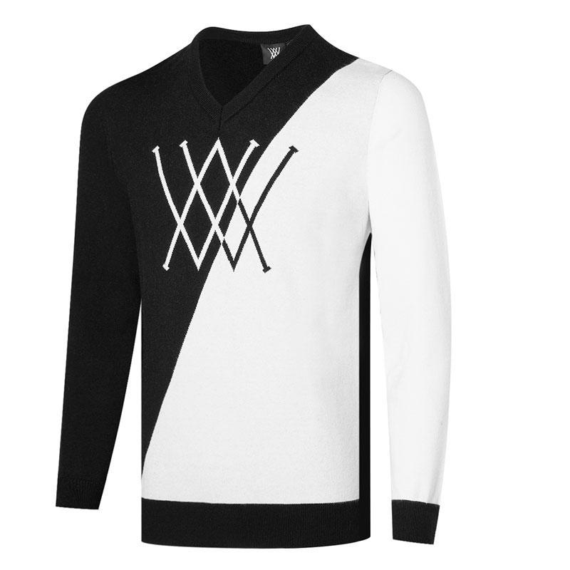 Autunno Inverno Uomo Annow Golf Magliette a maniche lunghe Collo rotondo Pullover Golf Abbigliamento Golf Sport Sport T Shirt gratuiti