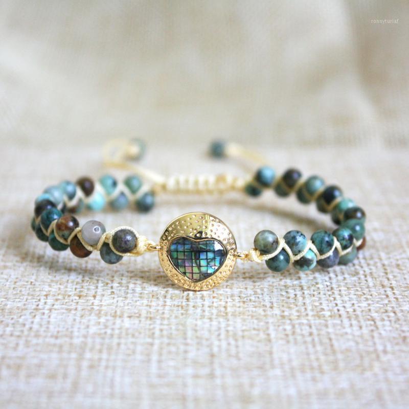 Браслеты очарования ладони, глаза, сердце африканский Japser String плетеная Йога дружественная одежда браслет браслет пары ювелирных изделий1