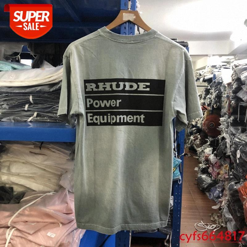 Sürüm Rhude Güç Ekipmanları T Gömlek Erkekler Kadınlar Kravat Boya Rhude T-Shirt Vintage # 3G38