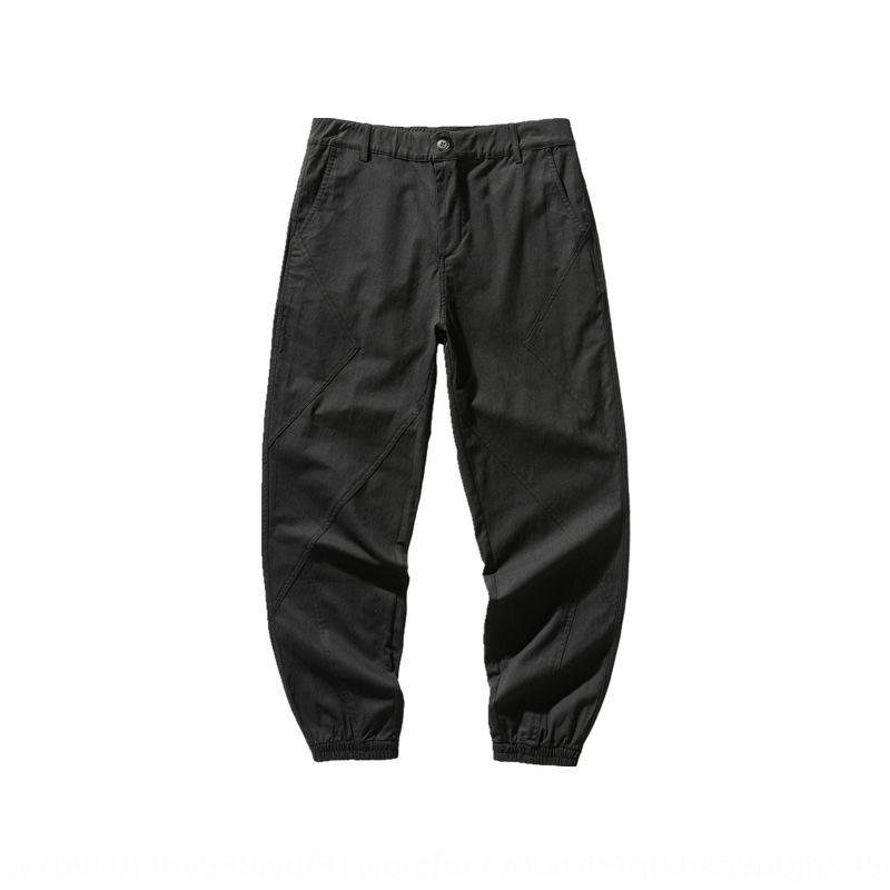 HjwdS South summer's pants slim men's simple and versatileopen cut casual chic legged casual pants for men's fashion 6ZKwZ