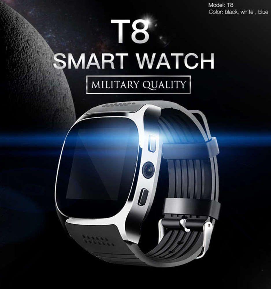 Reloj Movimiento Paso SMART T8 METER Pulsera puede insertar la tarjeta para tomar fotos de Bluetooth Watch Watch