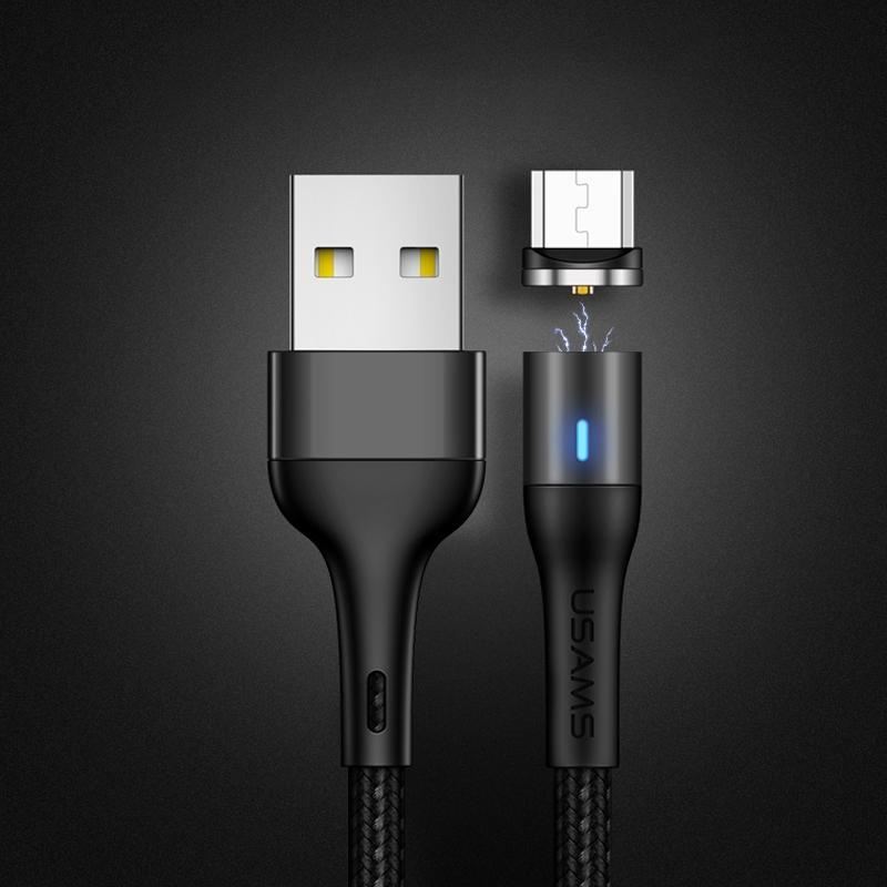USAMS US-SJ354 U32 Micro USB en alliage d'aluminium Charging magnétique Câble 1m Longueur
