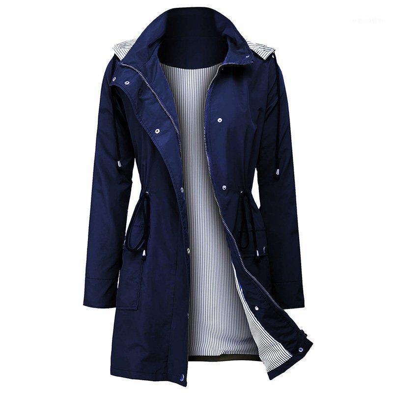 Winter lange Jacke Neue Frauen Mantel Winterjacken Regen Mit Kapuze Jacke Mantel, um die Taille Reißverschluss Outdoor Women1 festzuziehen
