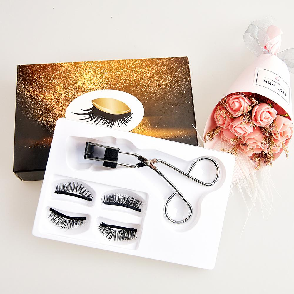 [Wimper Set für Make-up-021] 2 Pair Quantum Wimpern Zarte schöne dicke Faser lange falsche Wimpern für Make-up