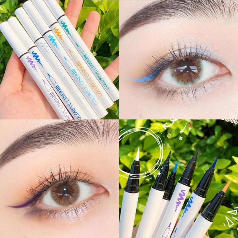 XIXI Brand Coloré Eye-liner Pencil Crayon Maquillage Échec de la maquillage Étanche Cosmétiques Longtemps Livraison Gratuite 12pcs / Lot