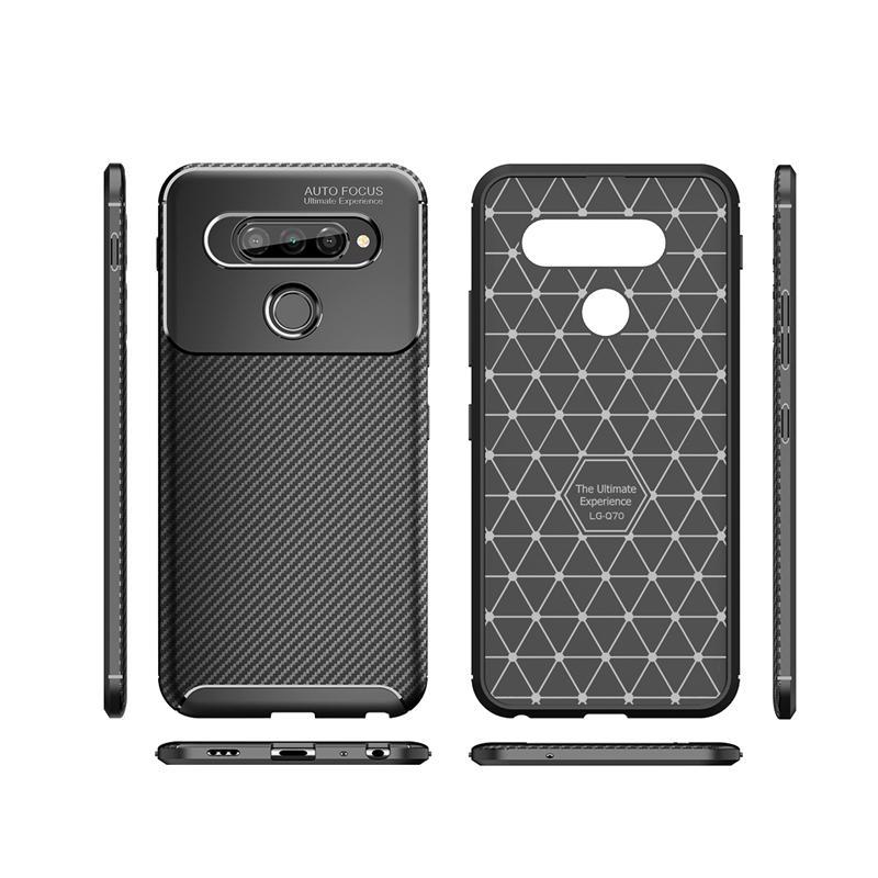 탄소 섬유 전화 케이스 LG V60 THINQ V40 K20 K40S K61 케이스 커버 LG Q70 STYLO5 G8 V50 THANQ W10 W30