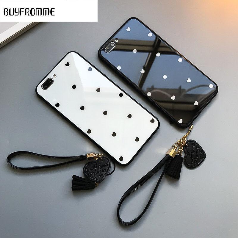 Heart Shaped Handy-Fall für Samsung Galaxy A51 A71 M30S A2core A40 J5 prime J8 5G Schutz Stoß- Glasabdeckung Strap