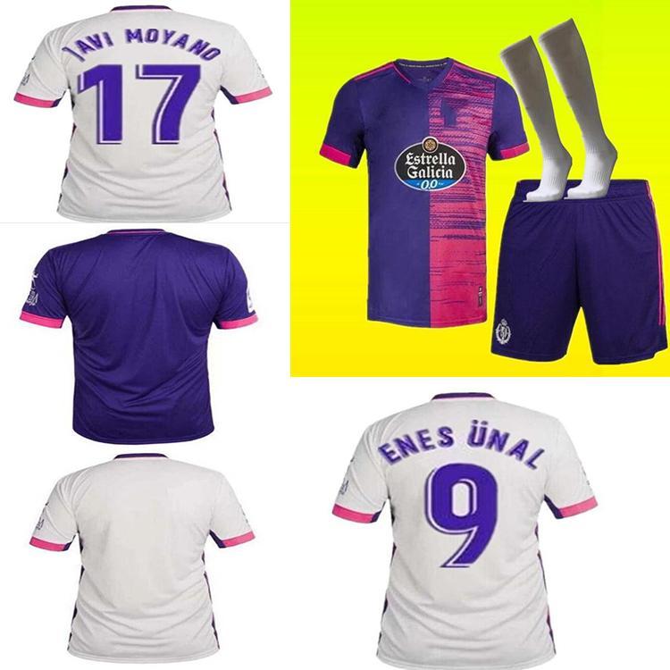 Real Valladolid Soccer Jersey 20 21 Fede S. Sergi Guardiola Óscar Plano Camisetas de Fútbol 2021 Homens + Meias Infantis Terno