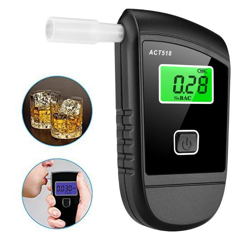 Alkolizm Testi LCD Ekran Dijital Breathalyzer Analiz Cihazı ile Profesyonel Alkol Test Cihazı 5 Ağızlıklar için Tespit Cihazı
