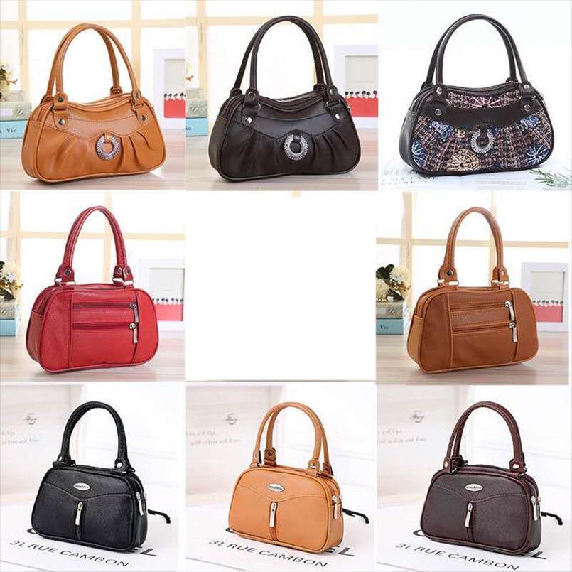 Borse Bag Donna con pannelli epoca fiore per la pelle ragazze Nero PU donna Messenger Bags Madre del telefono mobile borsa