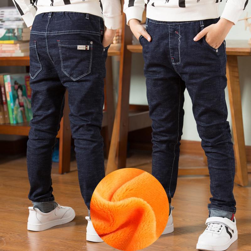 Qualitäts-Herbst-Frühlings-Baby-Jeans für Jungen-Hosen-Kind-Kleidung Baumwollbeiläufiges Kinder Teenager Denim-Hose-Jungen-Kleidung 201021