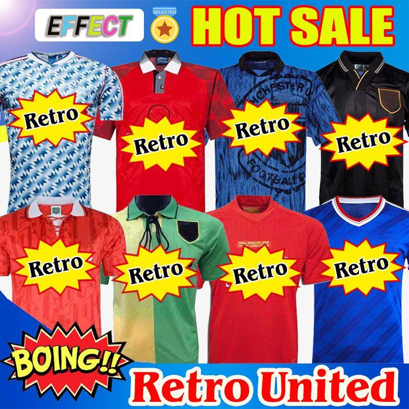 Maglie da calcio Retro Manchester United 07 08 90 92 United UCL final utd Home 1994 1998 United RONALDO BECKHAM CANTONA KEANE SCHOLES GIGGS Maglie