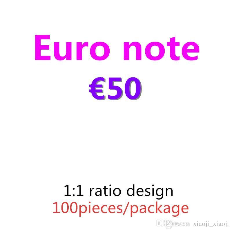 Best BankNote and Movie Prop Euro 07 Bar Copia carta Pretend Money Prop Money 100pcs / pack 50 BLHHF