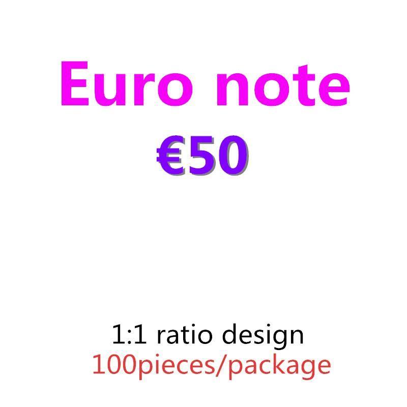 Beste Bar 100pcs / Pack Banknote 07 Pretend Copy-Film und Papier Euro 50 Prop-Prop-Prop-Geld Qttwg