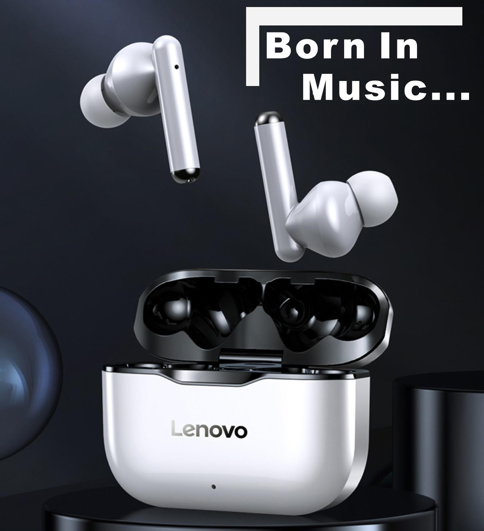 Lenovo LP1 TWS drahtlose Bluetooth 5.0 Kopfhörer Earbuds Noise Cancellation mit Mikrofon Touch Control Auto Connect Headset DHL frei