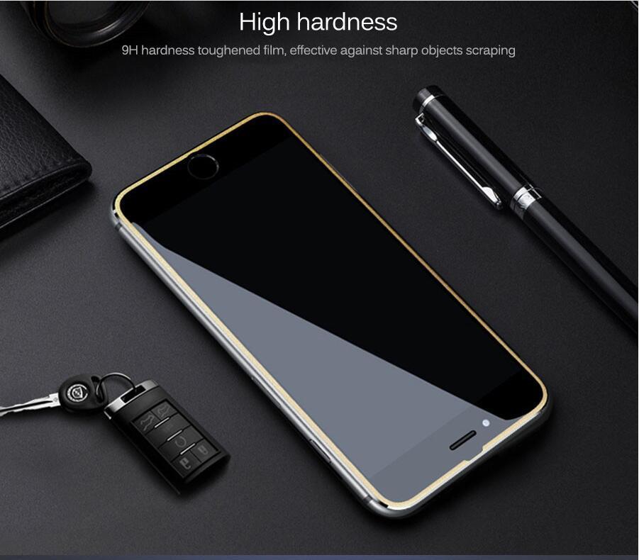 아이폰 11 9D 알루미늄 합금 강화 유리 아이폰 6 기가 7 8 플러스 화면 보호 필름 아이폰 X XR XS 최대 보호 유리