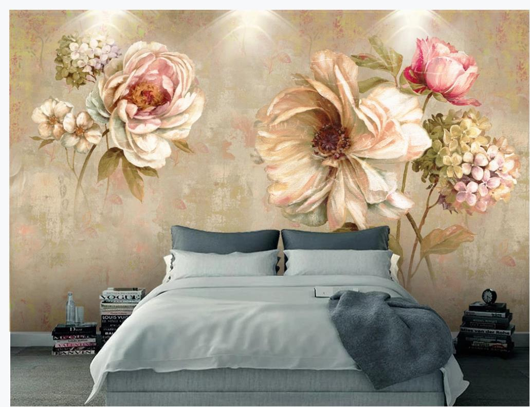 3d stereoscopic wallpaper Vintage oil painting flower wallpapers european background wall abstract oil painting abstract oil painting