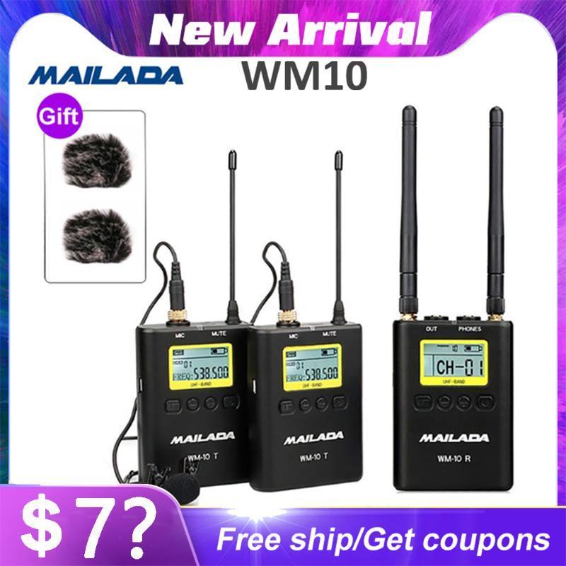 Microphone sans fil UHF Mailada Professional Système Mini Lapel micro casque émetteur-récepteur pour Teach Discours de conférences