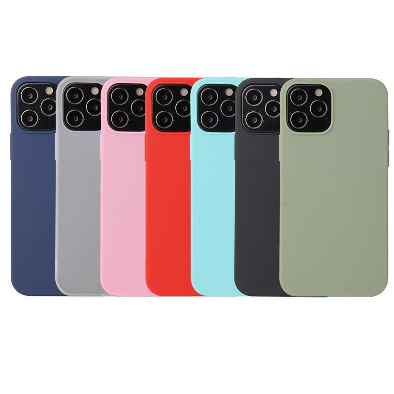 For iPhone Xs 11 Pro Max XR Soft Case For iPhone 12 7 8 Plus Case Original Liquid Silicone Cover Candy Cases