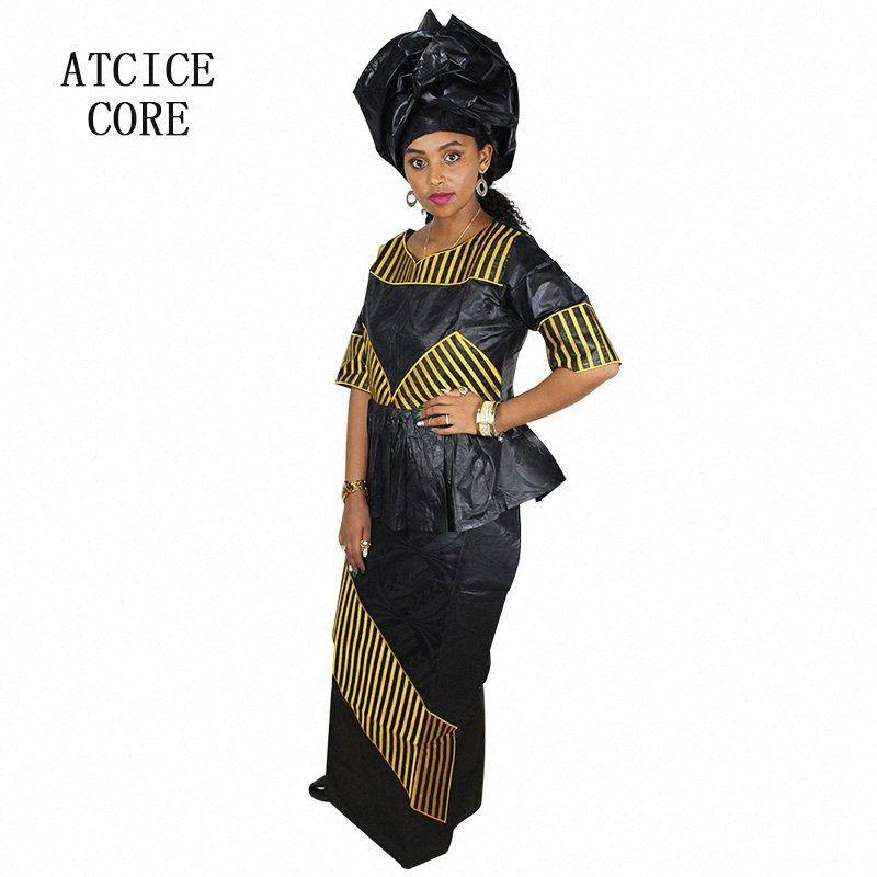 abiti africani per donna bazin riche di disegno del ricamo abito lungo DP207 aL4G #
