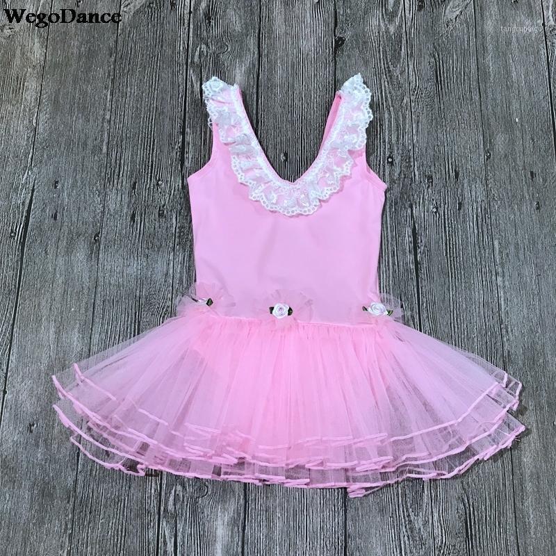 Детская танцевальная одежда без рукавов летнее кружевное балетное платье маленькая средняя школа танцевальная экспертиза практика одежда1