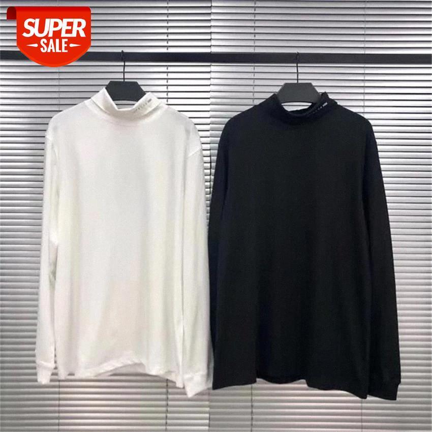ALYX Uzun Kollu Gömlek Erkek Kadın Balıkçı Yaka Logosu Baskı 1017 Alys 9SM T-Shirt Yüksek Kaliteli Pamuk Casual Tee Tops # Oy5Y