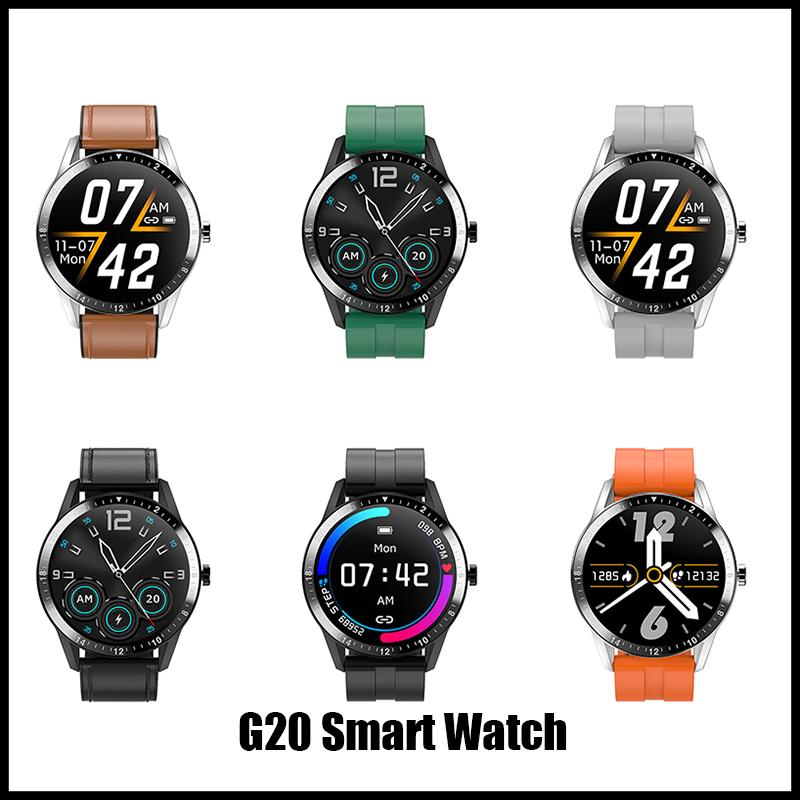 2020 New Arrivals G20 Smartwatch Large Full Touch Men women Business Style Sport Fitness bracelet Heart Rate Monitor for IOS androi