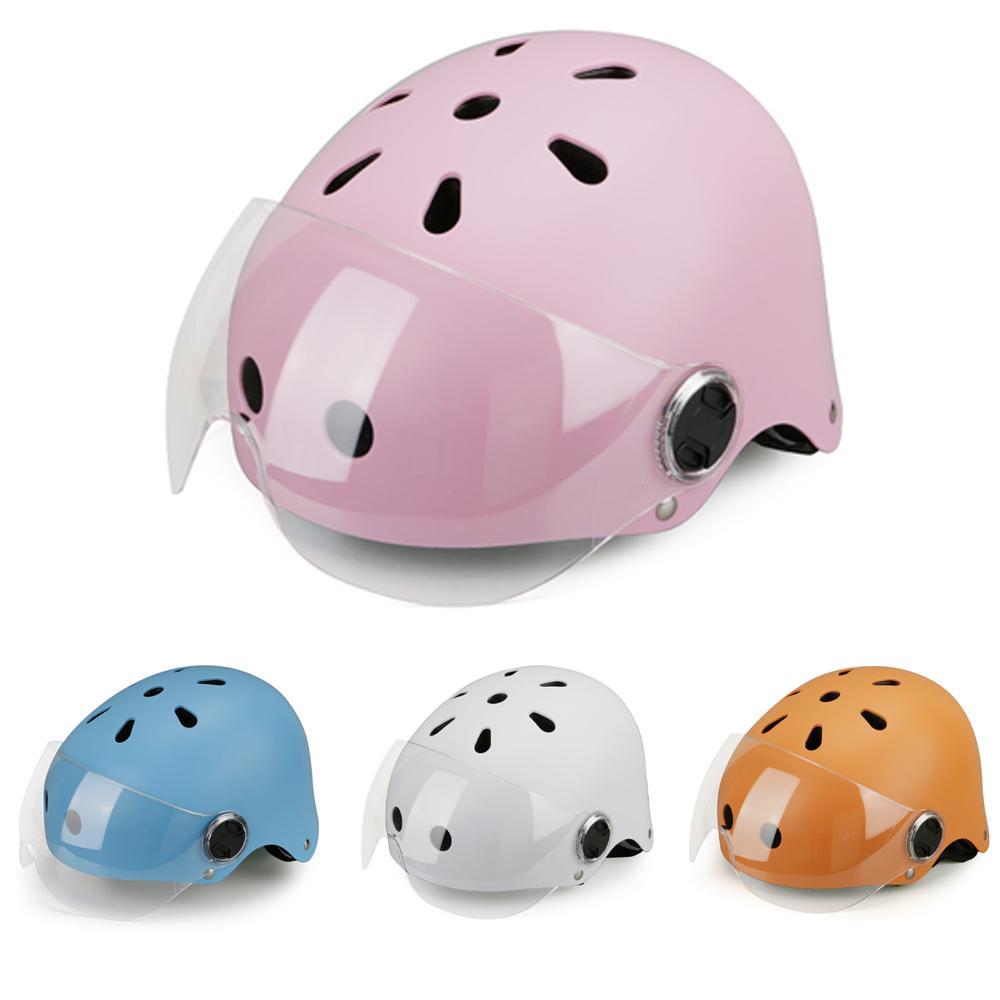 Регулируемая безопасность для защиты от езды шлем открытое лицо мотоциклетный шлем для взрослых легкие веса езда электрические велосипедные шлемы