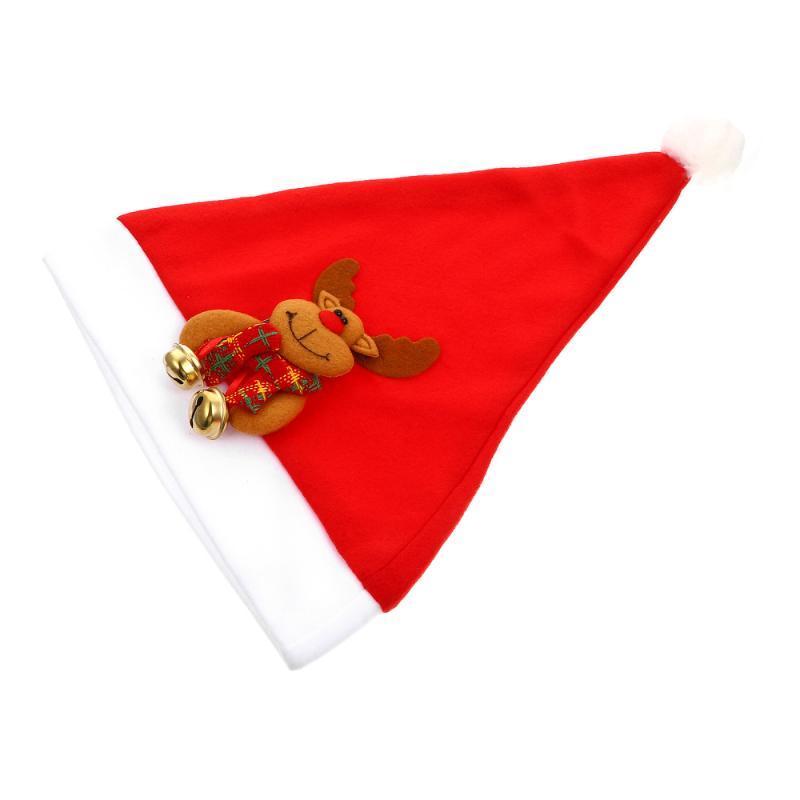 1 PC Decoración de Navidad Sombrero elegante de Navidad hasta casquillo de los sombreros del partido para Adultos