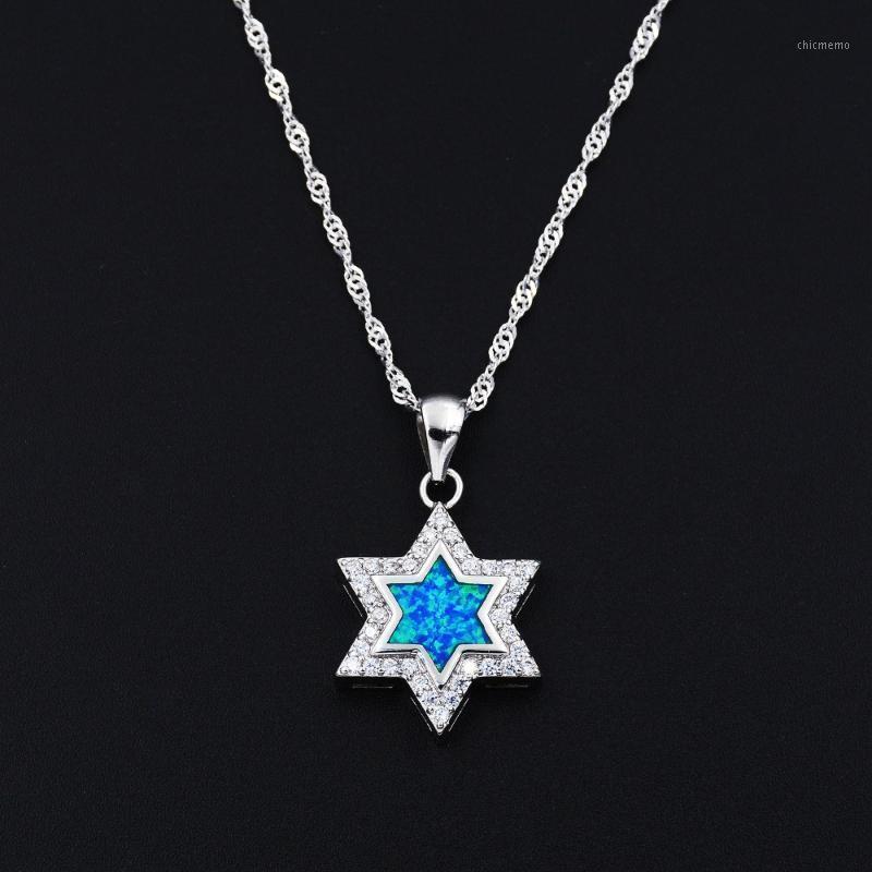 Whlosale розничная огня опала еврейская кулонская звезда Дэвида Хамса Рука Иудаизм Религия Ожерелье1